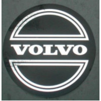 Sticker wieldop Volvo 90 mm + CORONA chroom